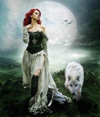 Redheadwithwolf